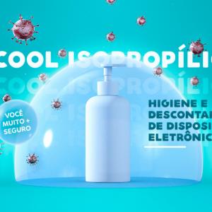 Álcool Isopropílico: higiene e descontaminação de dispositivos eletrônicos