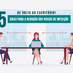 DE VOLTA AO ESCRITÓRIO! 5 DICAS PARA A REDUÇÃO DOS RISCOS DE INFECÇÃO